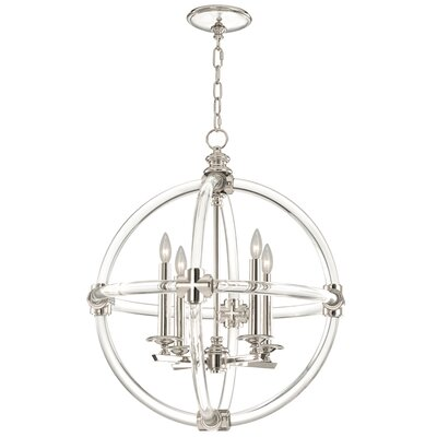Grosvenor Square 4-Light Foyer Pendant Finish: Polished Nickel