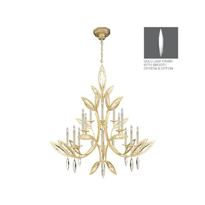 Marquise 16-Light Candle-Style Chandelier Finish: Gold