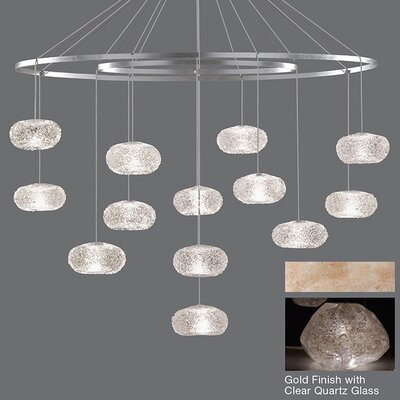 Natural Inspirations 12-Light Candle-Style Chandelier Finish: Gold Toned Silver
