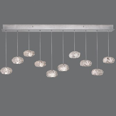 Natural Inspirations 10-Light Kitchen Island Pendant Finish: Platinized Silver