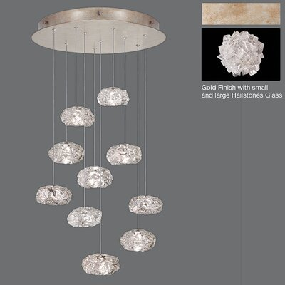 Natural Inspirations 10-Light Cluster Pendant Finish: Gold Toned Silver