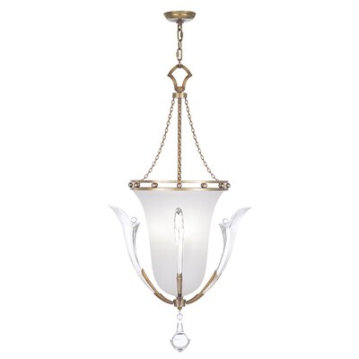 Ice Sculpture 3-Light Pendant Finish: Gold