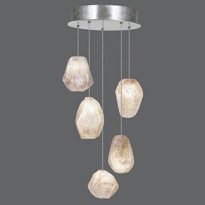 Natural Inspirations 5-Light Cluster Pendant Finish: Platinized Silver