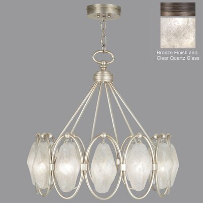 Quartz and Iron 12-Light Pendant Shade Color: Clear, Finish: Bronze