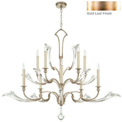 Ice Sculpture 10-Light Candle-Style Chandelier Finish: Gold