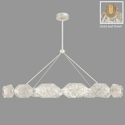 Allison Paladino 32-Light Drum Pendant Finish: Gold