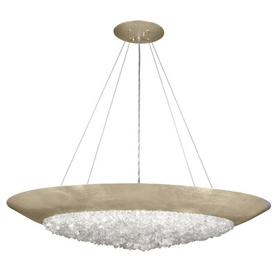 Arctic Halo 3-Light Inverted Pendant Finish: Champagne Tinted Gold