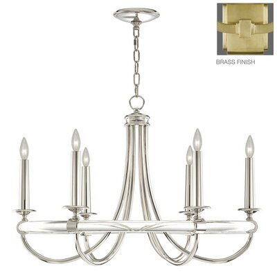 Grosvenor Square 6-Light Candle-Style Chandelier Finish: Antique Brass