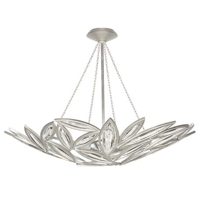 Marquise 12-Light Inverted Pendant Finish: Platinized Silver