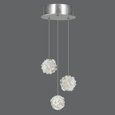 Natural Inspirations 3-Light Cluster Pendant Finish: Platinized Silver
