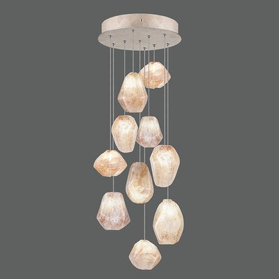 Natural Inspirations 10-Light Pendant Finish: Gold Toned Silver