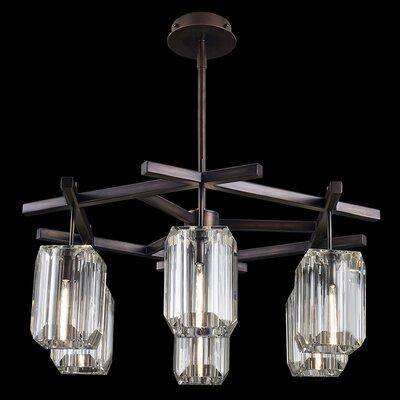 Monceau 6-Light Crystal Chandelier Finish: Bronze