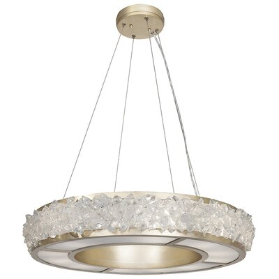 Arctic Halo 12-Light Drum Pendant Finish: Champagne Gold