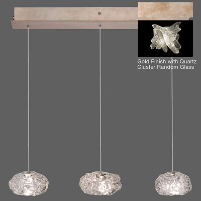 Natural Inspirations 3-Light Kitchen Island Pendant Finish: Gold Toned Silver