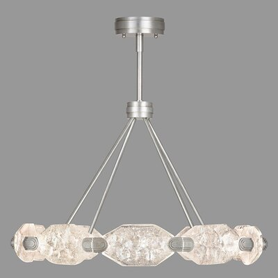 Allison Paladino 20-Light LED Crystal Pendant Finish: Platinized Silver