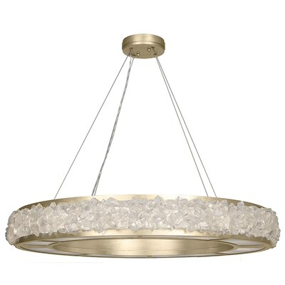 Arctic Halo 16-Light Drum Pendant Finish: Champagne Tinted Gold Leaf