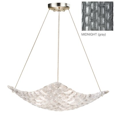 Constructivism 3-Light Inverted Pendant Finish: Silver, Shade Color: Midnight Gray