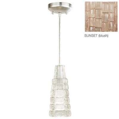 Constructivism 1-Light Mini Pendant Finish: Silver, Shade Color: Sunset Blush