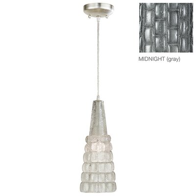 Constructivism 1-Light Mini Pendant Finish: Silver, Shade Color: Midnight Gray