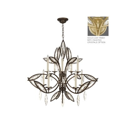 Marquise 10-Light Candle-Style Chandelier Finish: Florentine Brushed Gold