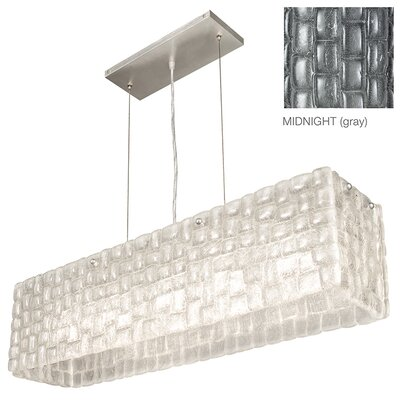 Constructivism 5-Light Kitchen Island Pendant Finish: Silver, Shade Color: Midnight Gray