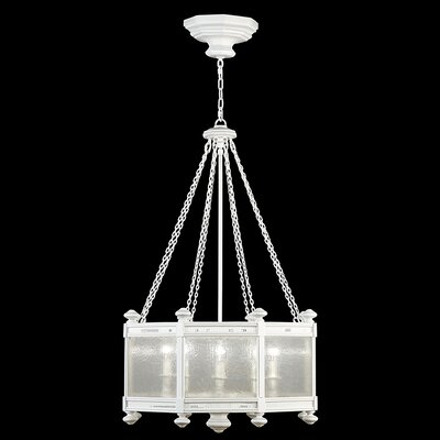 Black + White Story 8-Light Pendant Finish: Studio White Satin
