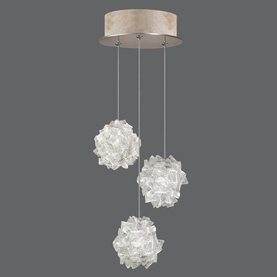Natural Inspirations 3-Light Cluster Pendant Finish: Gold Toned Silver