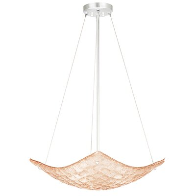 Constructivism 3-Light Inverted Pendant Finish: Silver, Shade Color: Sunset Blush