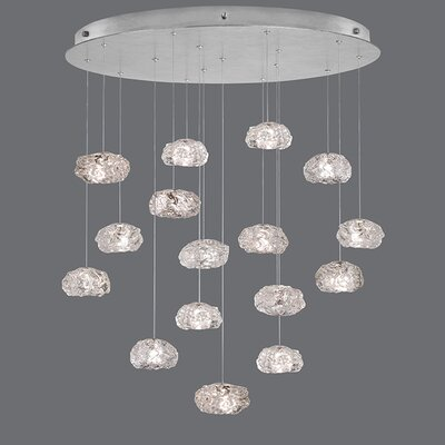 Natural Inspirations 16-Light Cascade Pendant Finish: Platinized Silver