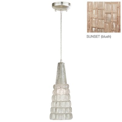 Constructivism 1-Light Chandelier Finish: Silver, Shade Color: Sunset Blush