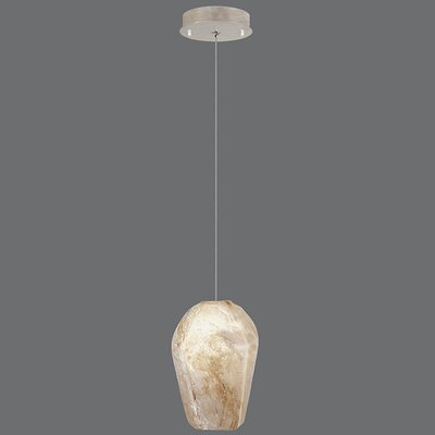 Natural Inspirations 1-Light Mini Pendant Finish: Gold Toned Silver