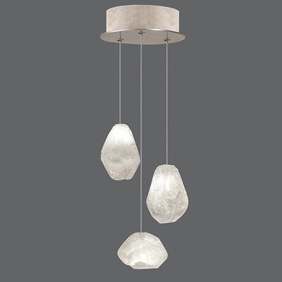 Natural Inspirations 3-Light Cascade Pendant Finish: Gold Toned Silver