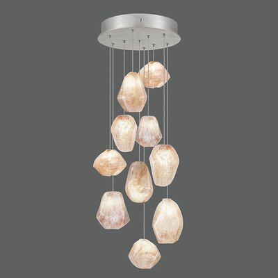 Natural Inspirations 10-Light Pendant Finish: Platinized Silver
