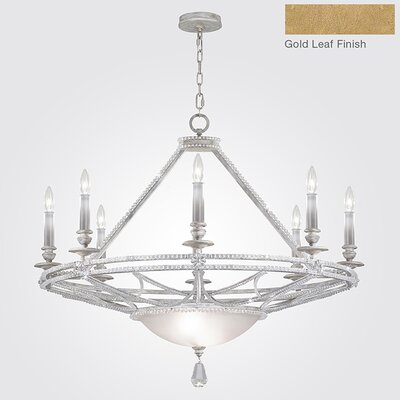Prussian Neoclassic 8-Light Candle-Style Chandelier Finish: Gold