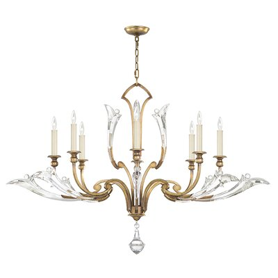 Ice Sculpture 8-Light Candle-Style Chandelier Finish: Gold