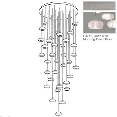 Natural Inspirations 36-Light Pendant Finish: Platinized Silver