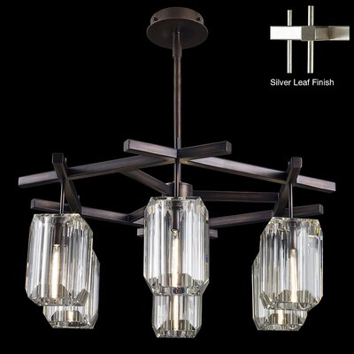 Monceau 6-Light Crystal Chandelier Finish: Platinized Silver