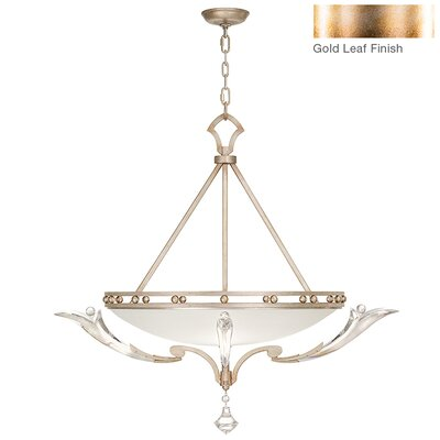 Ice Sculpture 3-Light Inverted Pendant Finish: Gold