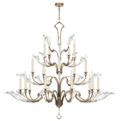 Ice Sculpture 20-Light Candle-Style Chandelier Finish: Gold