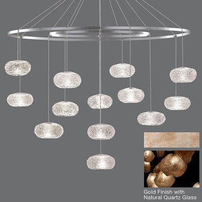 Natural Inspirations 12-Light Waterfall Chandelier Finish: Gold Toned Silver
