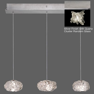 Natural Inspirations 3-Light Kitchen Island Pendant Finish: Platinized Silver