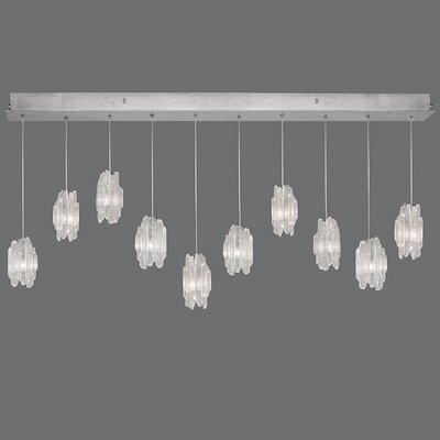 Natural Inspirations 10-Light Cluster Pendant Finish: Platinized Silver