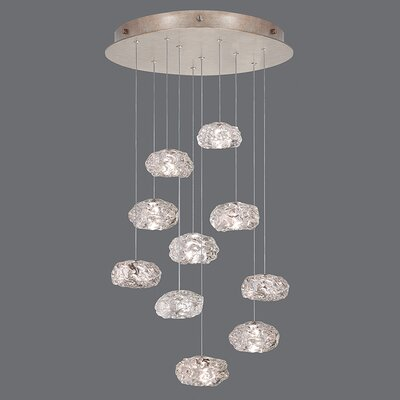 Natural Inspirations 10-Light Cascade Pendant Finish: Gold Toned Silver