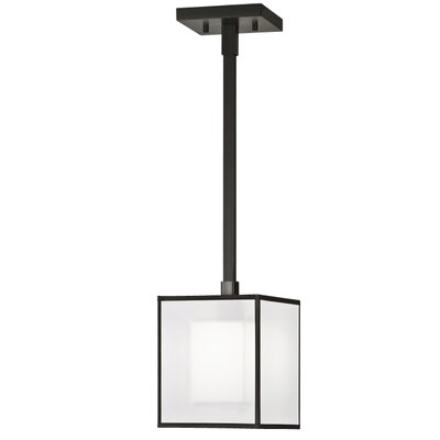 Black + White Story 1-Light Mini Pendant Finish: Black Satin