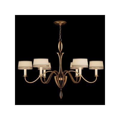 Staccato 6-Light Shaded Chandelier Finish: Silver