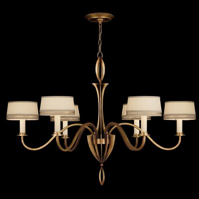 Staccato 6-Light Drum Chandelier Finish: Gold