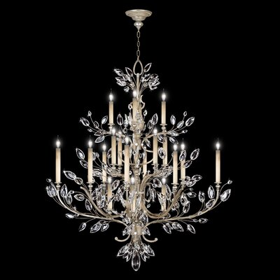 Crystal Laurel 20-Light Candle-Style Chandelier