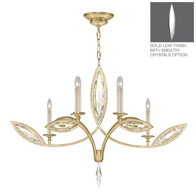 Marquise 6-Light Candle-Style Chandelier Finish: Gold