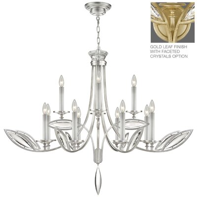 Marquise 12-Light Candle-Style Chandelier Finish: Gold