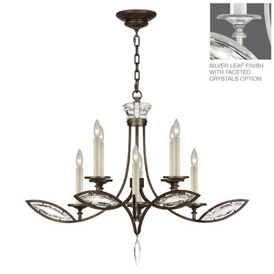 Marquise 8-Light Candle-Style Chandelier Finish: Platinized Silver